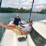 Sundowners on deck