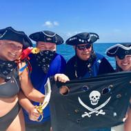 Pirates on board our Catamaran