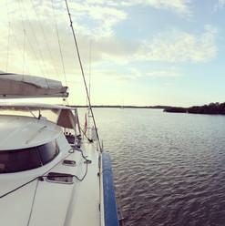 Saltair 3 at anchor