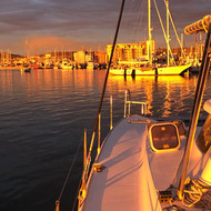 Sunset on a Catamarn in La Paz