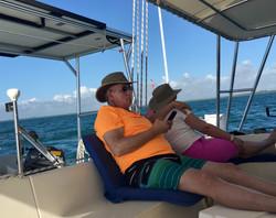 enjoying and afternoon sail
