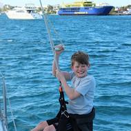Fun on a boat