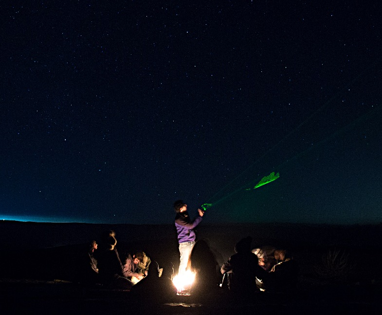 פעילות כוכבים במכתש רמון