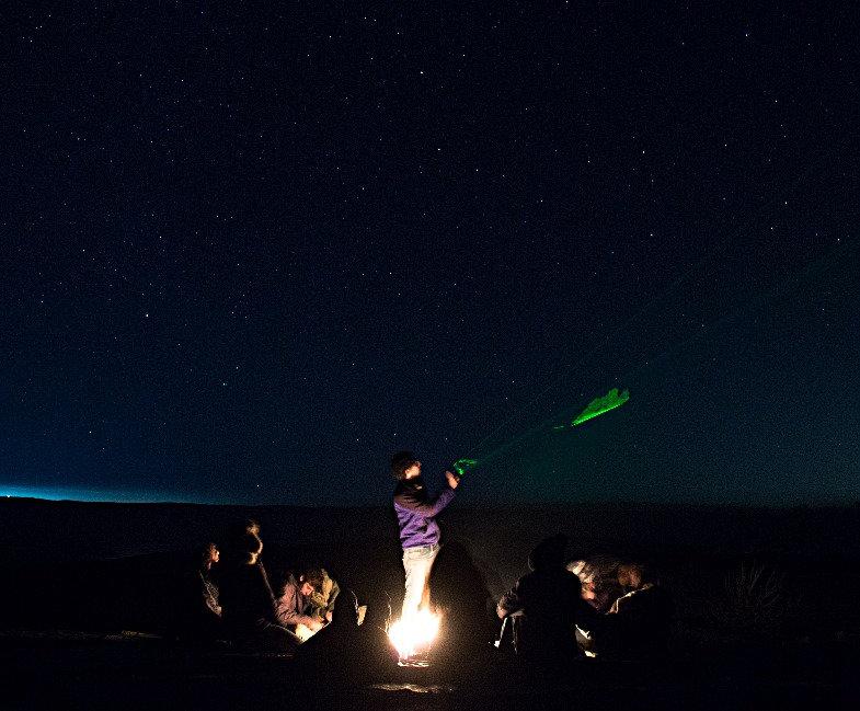 Stargazing around the fire