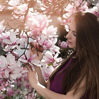 "Yulia. Private photo session ""Magnolia Dreams"". Kirchdorf"