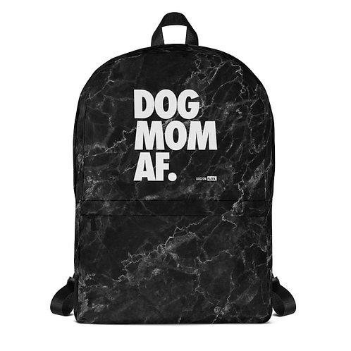 Dog Mom AF Black Marble: Backpack