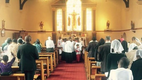 Enrollment of new altar boys into the Archconfraternity of St. Stephen