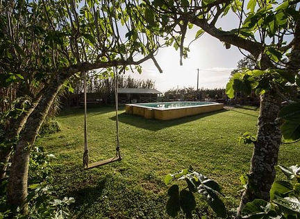 Private Garden arch frame, swing, pool a