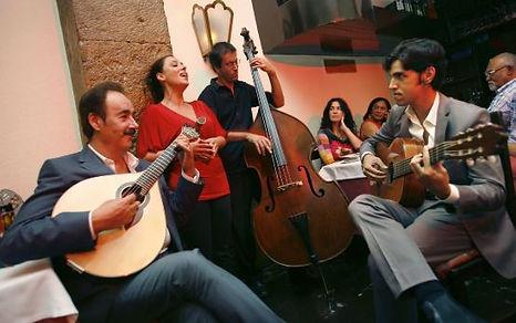 Fado Music in Restaurant Bar.JPG