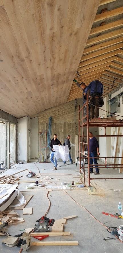 תהליך חיפוי הגג