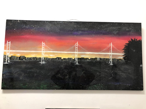 """Galaxy Bridge Skyline"" by Charcas"