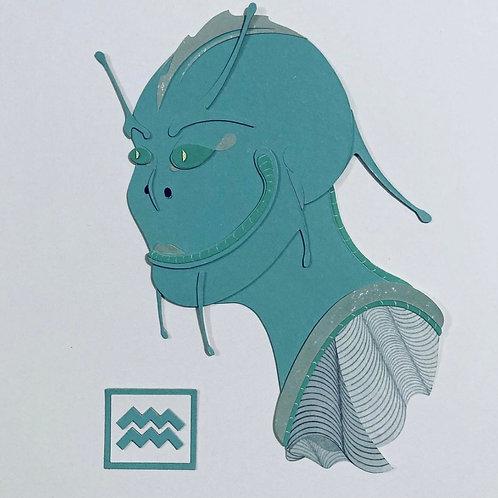 """""""Alien"""" Framed Art Piece by Austen Zombres"""
