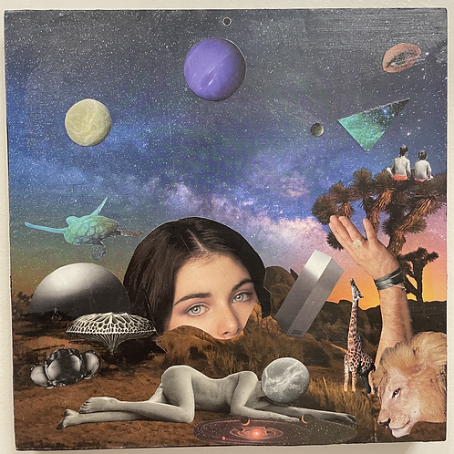 """""""New Moon"""" Paper Collage by Dilcia Giron"""