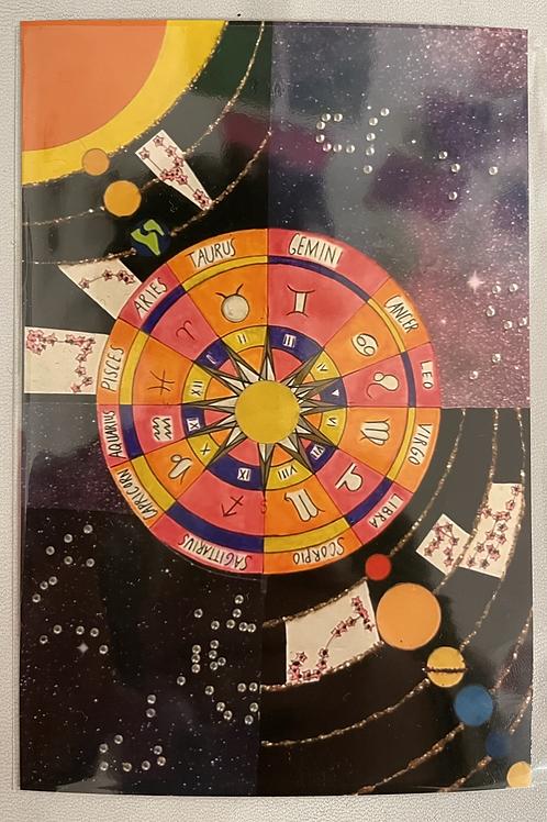 """Galaxy Zodiac Postcard"" by July Cordon"