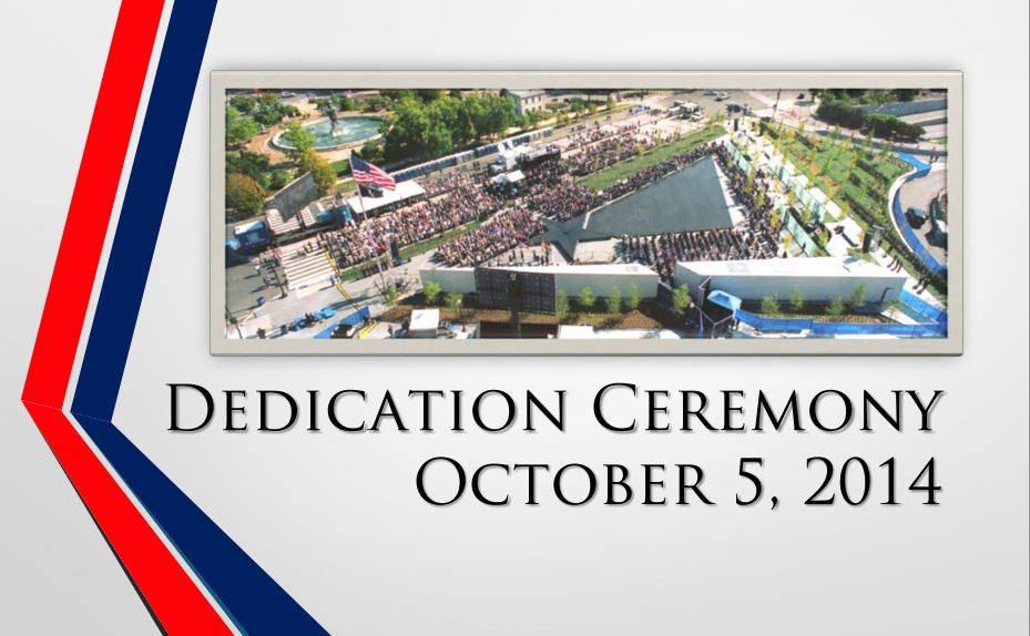 Dedication Ceremony overhead view