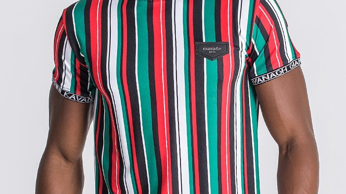 GKM-1577 TEE RED STRIPES