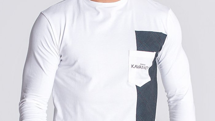 GKM-1499 White Oxford Long Sleeve Tee