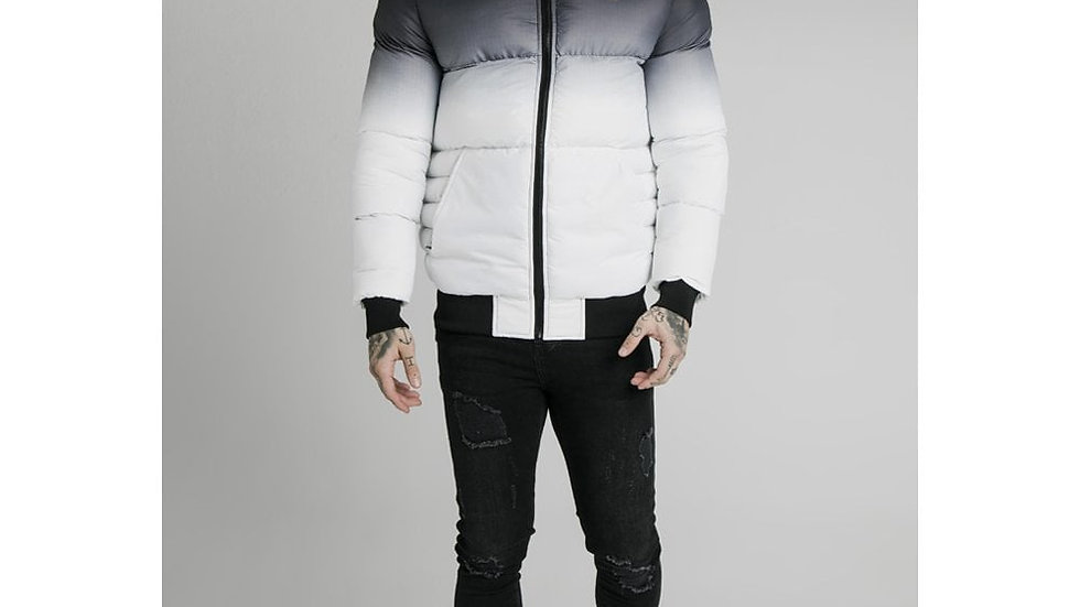 SikSilk Rip Stop Distance Jacket - Black & White