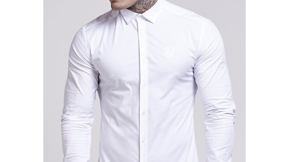 SS-10168  Stretch Shirt - White