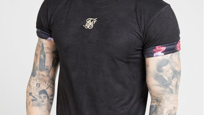 SS-15720 TEE SLEVE BLK/OIL PAIT