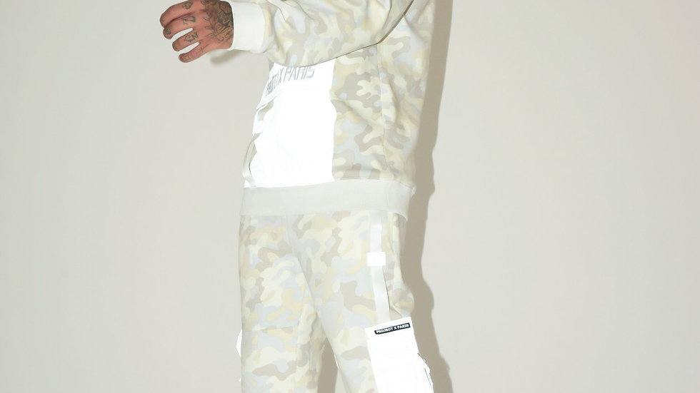 Camo-print Tracksuit with Reflective pockets