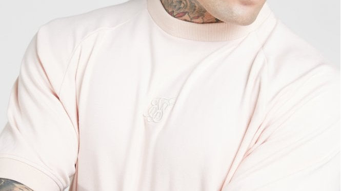 SSILK-15412 SWEATER RAGLAN CLOUDY PINK