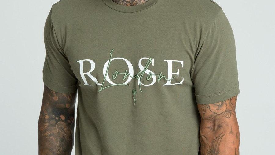 Rose London 3D Script Logo T-shirt Khaki