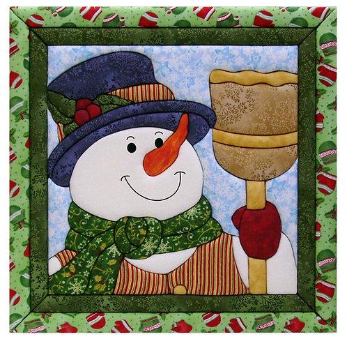 #427 Snowman & Broom