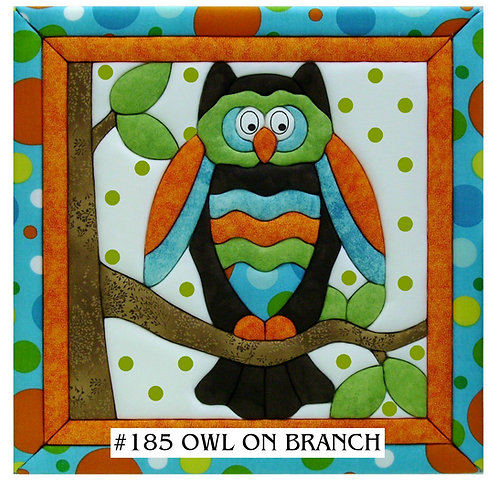 #185 Owl on Branch