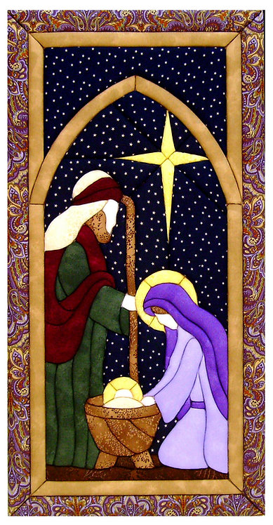 #500C-19 Nativity in Purples