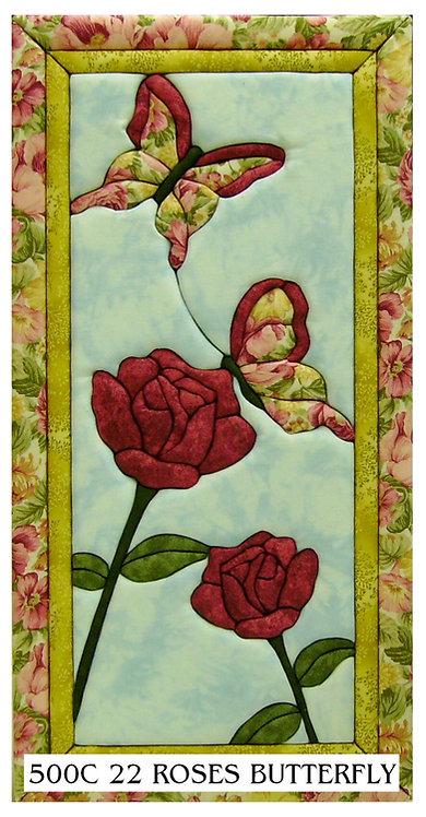 #500C-22 Roses & Butterflies