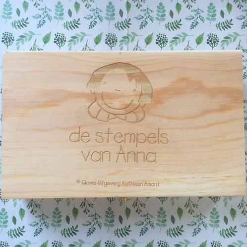 Set Anna stempels in houten doosje