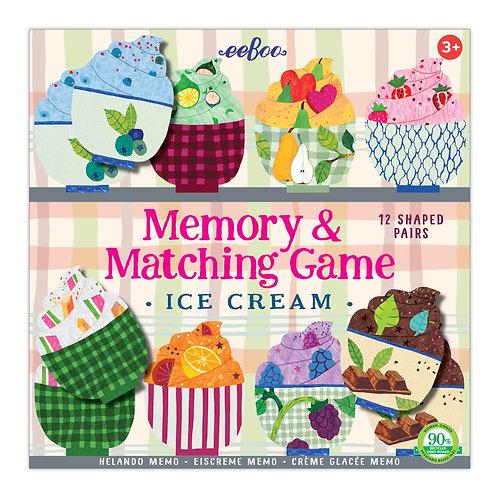 Eeboo Ice Cream Memory & Matching Game