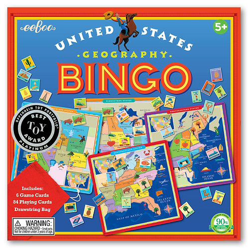 Eeboo U.S. Geography Bingo