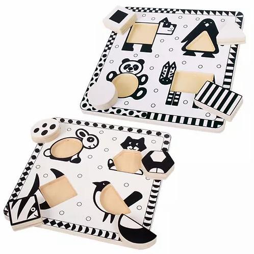 Black and White Animals Puzzle