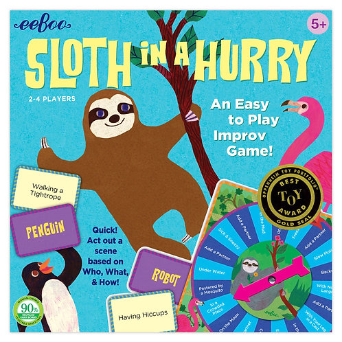 Eeboo Sloth in a Hurry Imporv Game