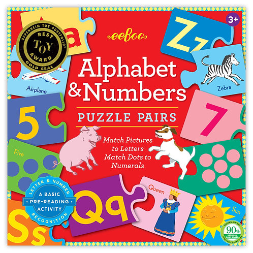 Eeebo Alphabet & Number Pairs