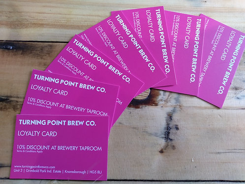 Taproom Loyalty Card, 10% OFF
