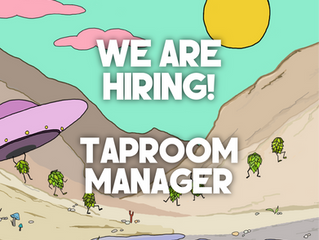 We're Hiring: Taproom Manager (Part or Full Time Role Available)