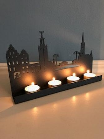 Stockholm Skyline tea candle holder