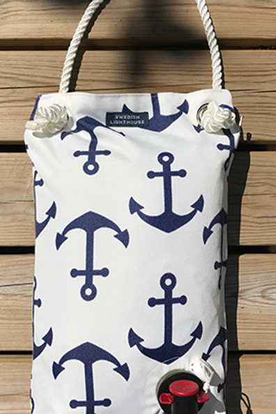 White with anchor