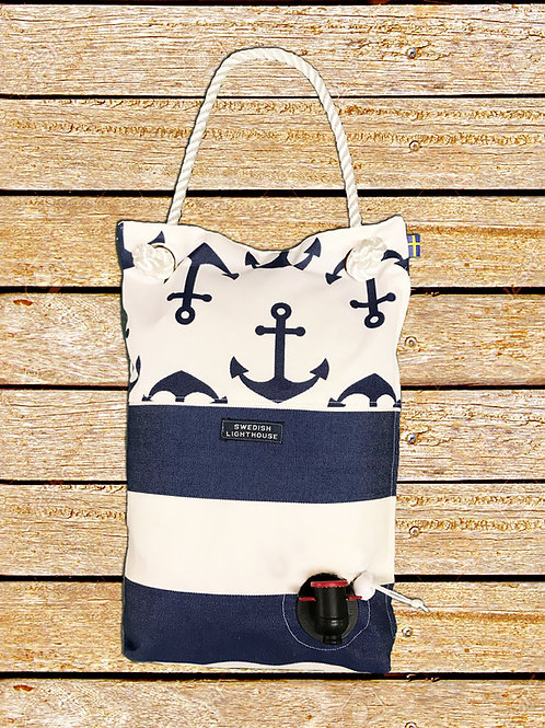 Anchors with blue/white stripes