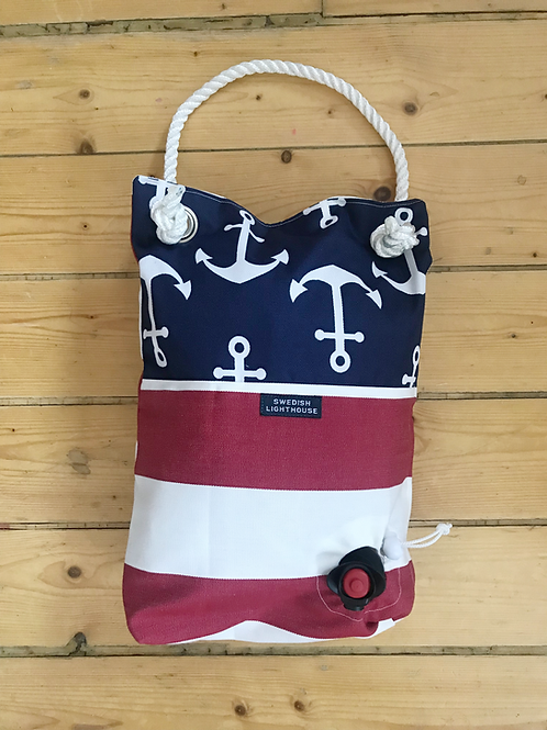 Anchors with red/white stripes