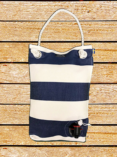 Blue white large stripes