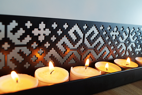 Folk pattern candle holder
