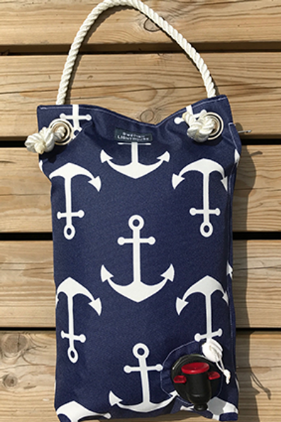 Blue with anchor