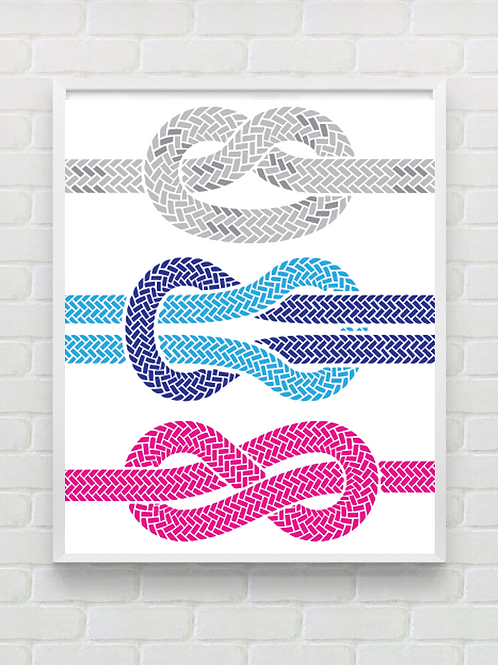 3 knots poster
