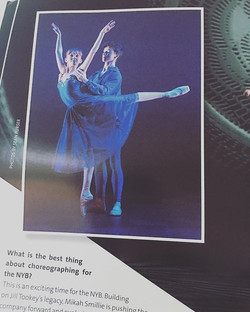 _basiljames1 making an appearance in this month's _dancemagazine #nyb #dance #stalbans #ballet #boys