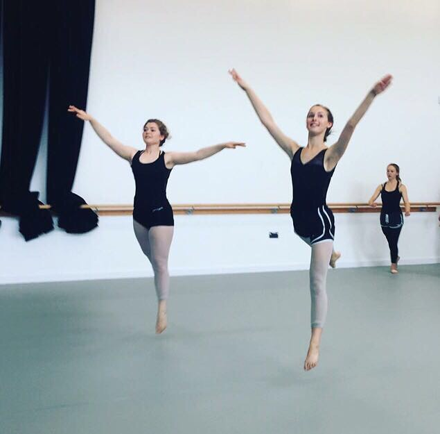 Our gorgeous girls _julietcalder_ and _a_girlcalled_rose flying the LDA flag and completing the danc