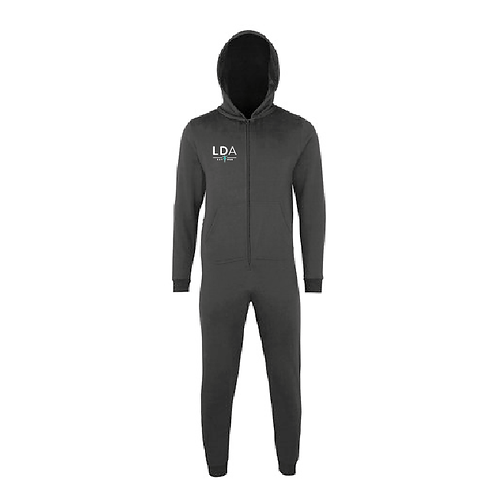 Children's - Black Zip Up Onesie with hood